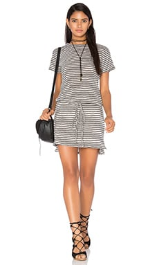 Fern Dress in Grey Stripe