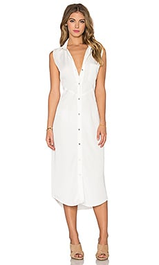 Benjamin Jay Lexington Button Up Dress in Cloud