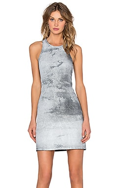 Benjamin Jay Vila Wax Coated Dress in White Shadow