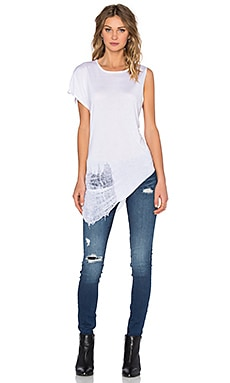 Benjamin Jay V Shred Tee in White