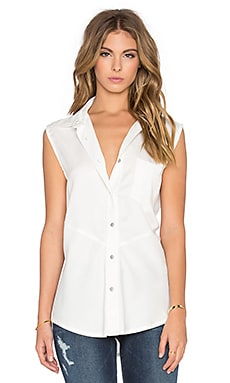 Madison Button Up Tank in Cloud