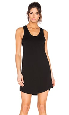 Modal Baby Terry Shift Tank Dress en Noir