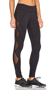 Beyond Yoga Mesh Diamond Legging in Black