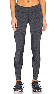 Beyond Yoga Stripe Rotated Long Legging in Black