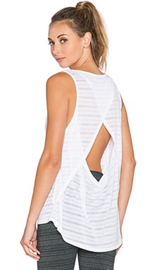 Beyond Yoga Draped Open Back Tank in White