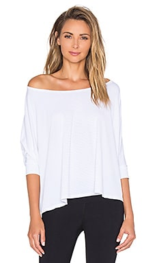 Beyond Yoga Sleek Stripe Cropped Pullover in White
