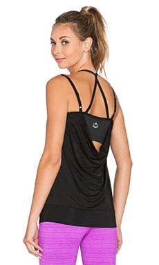 Beyond Yoga Sleek Stripe Goddess Tank in Black
