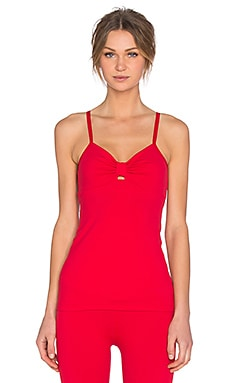 Beyond Yoga x Kate Spade Peek-A-Boo Cami in Posy Red