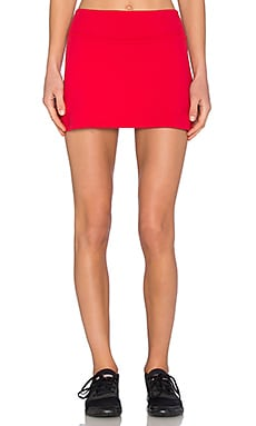 Beyond Yoga x Kate Spade Side Bow Slit Skirt in Posy Red
