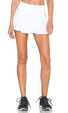Beyond Yoga Sleek Stripe Flirty Skort in White