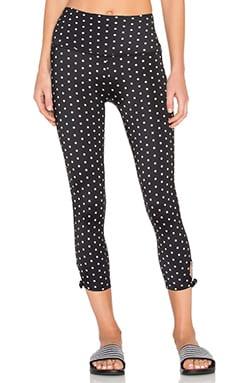 Beyond Yoga x Kate Spade High Waist Bow Capri Legging in Polka Dot