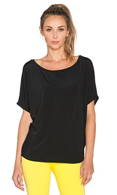 Beyond Yoga Sleek Stripe Slouchy Top in Black