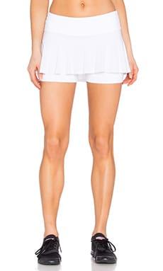 Beyond Yoga Sleek Stripe Tennis Skort in White