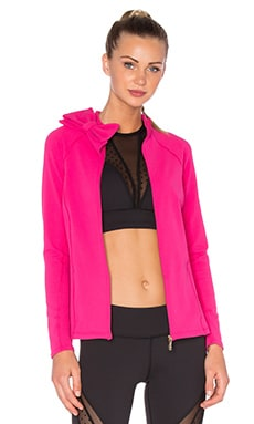 Beyond Yoga x Kate Spade Neck Bow Jacket in Deep Carnation