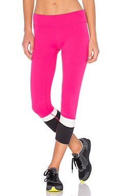 Beyond Yoga x Kate Spade Banded Capri Legging in Deep Carnation