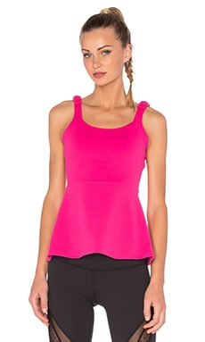 Beyond Yoga x Kate Spade Peplum Cami in Deep Carnation