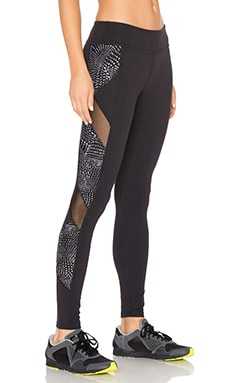 Beyond Yoga Lux Print Spliced & Diced Legging in Swirling Dots