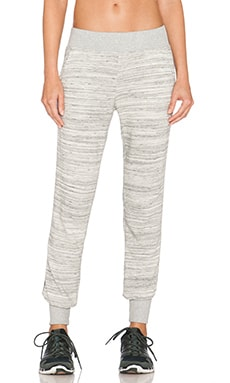 Beyond Yoga Spacedye Terry Pant in Heather Grey-White