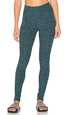 Beyond Yoga Spacedye High Waist Long Legging in Black & Arctic Teal