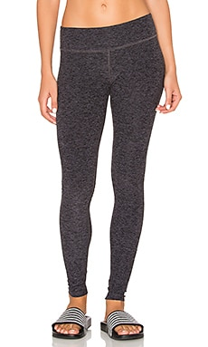Beyond Yoga Spacedye Essential Long Legging in Black & Steel