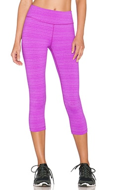 Beyond Yoga Stripe Capri Legging in Purple Orchid