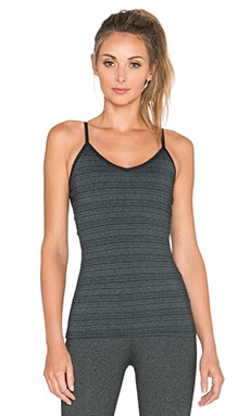 Beyond Yoga Stripe Strappy Ballet Cami in Black