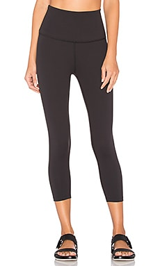 High Waist Capri Legging in Jet Black
