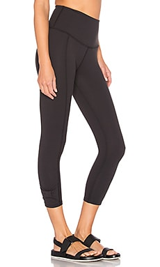 x kate spade Cinched Side Bow Legging in Jet Black