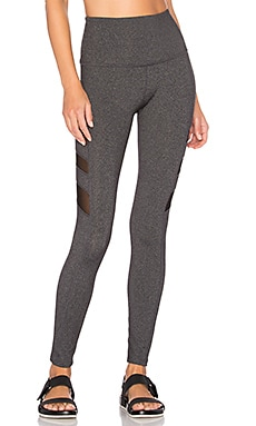 Triple Mesh High Waist Legging in Heather Grey