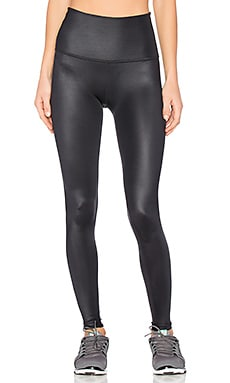 Gloss Over High Waist Legging in Black Gloss
