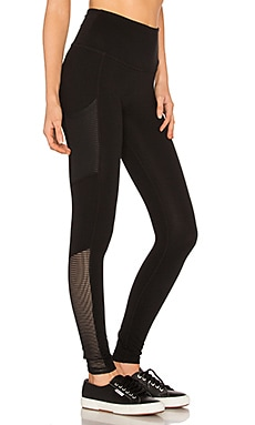 Mesh Behavior High Waist Legging in Jet Black