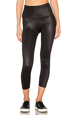 Gloss Over High Waist Capri en Black Gloss
