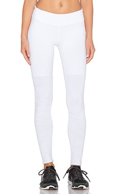 Beyond Yoga Sleek Stripe Leg Warmer Legging in White
