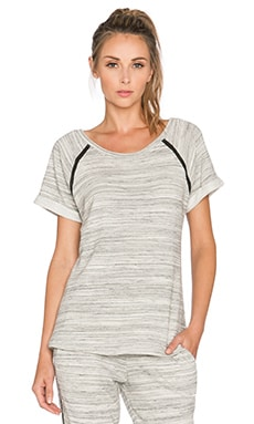 Beyond Yoga Spacedye Terry Raglan in Heather Grey