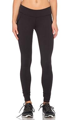Beyond Yoga Wave Mesh Pieced Legging in Black