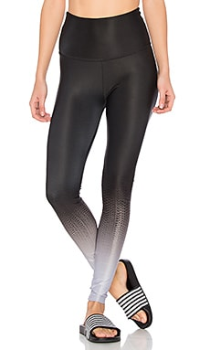 High Waisted Long Legging in Fade To Black