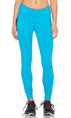 Beyond Yoga Wave Mesh Pieced Legging in Turquoise