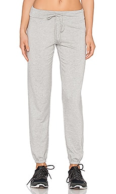 Beyond Yoga Cozy Fleece Staple Sweatpant in Light Heather Gray