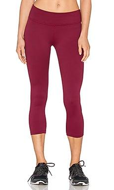 Beyond Yoga Deco Capri Legging in Garnet Red & Imperial Violet