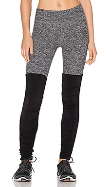 Beyond Yoga Spacedye Leg Warmer Legging in Black & White