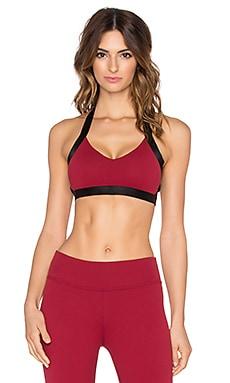 Beyond Yoga Cut-Out Bra in Garnet Red