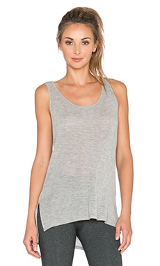 Beyond Yoga Hacci Long Bell Tank in Heather Grey