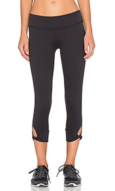 Beyond Yoga Twisted Cuff Capri Legging in Black