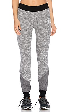 Beyond Yoga Double Faced Sliced Sweatpant in Heather Black & White