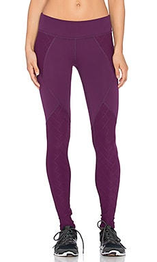 Beyond Yoga Quilted Paneled Long Legging in Imperial Violet