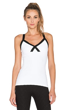 Beyond Yoga Quilted Banded Cami in White