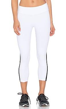 Beyond Yoga Side Mesh Triangle Capri Legging in White