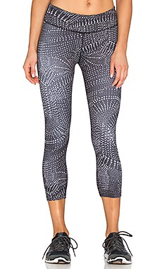 Beyond Yoga Lux Print Capri Legging in Swirling Dot