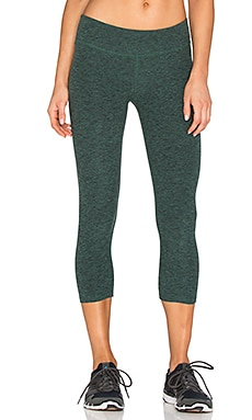 Beyond Yoga Space dye Capri Legging in Steel Vine Green