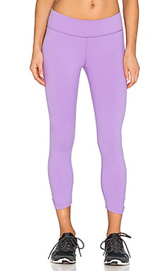 Beyond Yoga Back Gathered Capri Legging in Lavender Mist